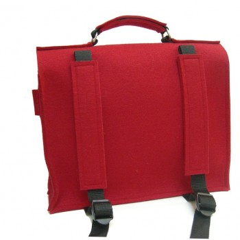 Backside Retro Schoolbag - Red