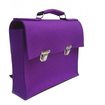 Retro Schoolbag - Purple