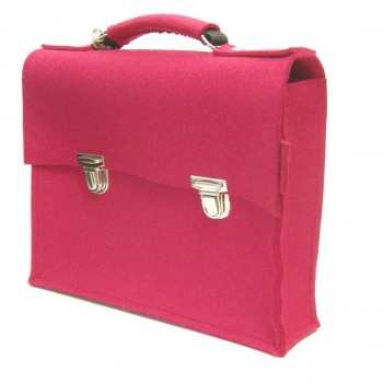 Retro Schoolbag - Raspberry