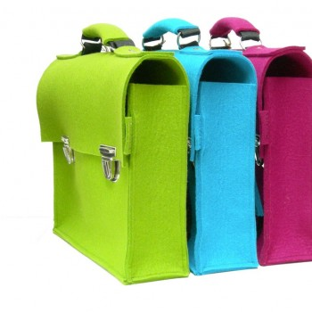 Retro Schoolbags - Lime-Turquoise-Purple