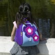 Toddler with Flower Power Backpack