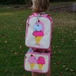 Toddler with Dolce and Panna Backpack and Lunchbox