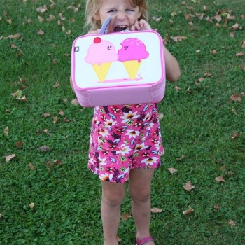 Girl with Dolce and Panna Lunch Box