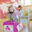 Girl with Pocchari Suitcase and Lunch Box