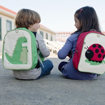 Two Toddler with Percival and Ju-Ju Backpack